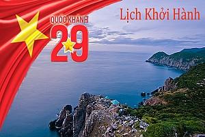 Tổng hợp lịch trình khởi hành các tour biển dịp lễ mùng 2 tháng 9