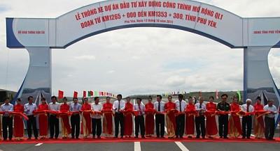 Phú Yên thông xe dự án mở rộng Quốc Lộ 1